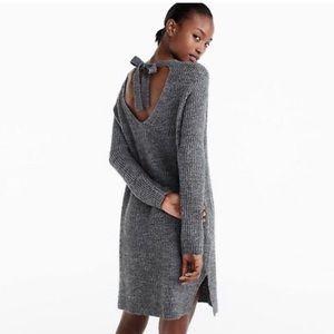 J Crew Small Alpaca Wool Sweater Dress Gray